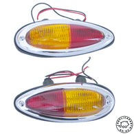 Porsche 356 A T2 B C Teardrop Taillight Assembly Set Euro Replaces 64463140301