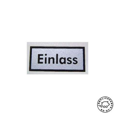 Porsche H-Filter Einlass Oil Filter Canister Side Decal Replaces 64470100400 ReplicaParts.co.uk