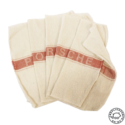Porsche Shop Towel Cotton Cloths Perfect Toolkit Addition Set of 5 - 64472191501 ReplicaParts.co.uk