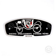 Porsche 356 Convertible D & Roadster D'leteren badge emblem Replaces 64472300600 - ReplicaParts.co.uk