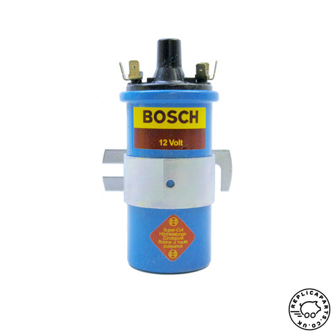 Porsche 356 912 Bosch Ignition Coil 12-volt Replaces 90122111927 91122111927 ReplicaParts.co.uk
