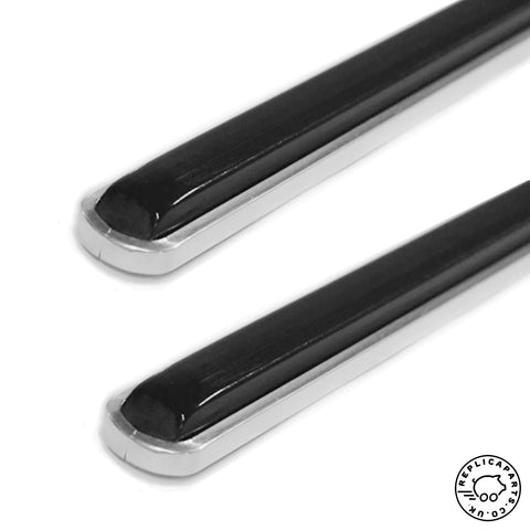 Porsche 911S 1967 Side Deco Strip and Rubber Insert Pair Replaces 90155910552 ReplicaParts.co.uk