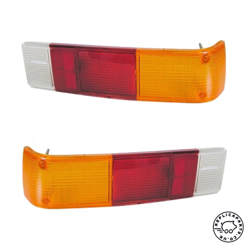 Porsche 914 Tail Light Lens Rear Euro Amber L&R Replaces 91463194910 91463195010 ReplicaParts.co.uk