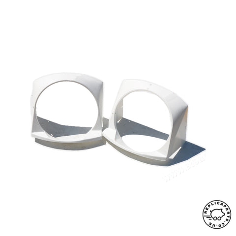 Porsche 914 1969-1972 Headlight Surround Bezels Pair White Replaces 91475022511 ReplicaParts.co.uk