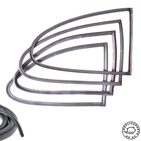 Porsche 356 Coupe All Quarter Window Complete Seals Kit for Glass - Frame - Body ReplicaParts.co.uk