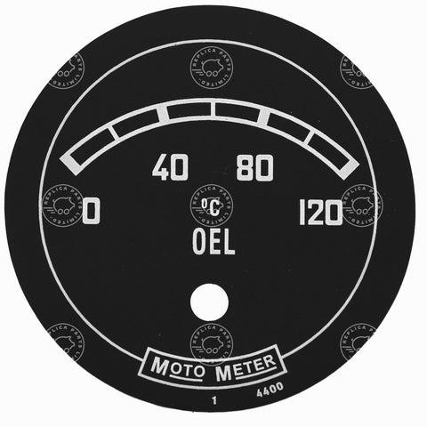 Porsche 356 Pre A 1950 - 1952 MOTO METER oil gauge dial face sticker