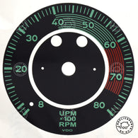 Porsche 356 A B 1955 to 1963 VDO 8000 RPM tachometer dial face sticker