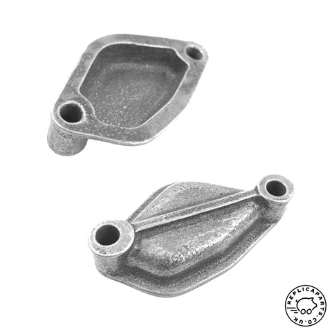 Porsche 356 912 Fuel Pump Mount Point Blanking Plate Cast Alloy with Gasket ReplicaParts.co.uk