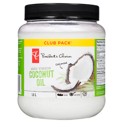 President's Choice 100% Virgin Cold-Pressed Coconut Oil (1.60 L)