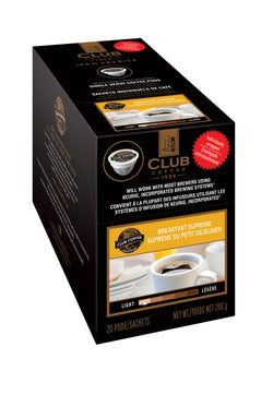 Club Coffee - Breakfast Supreme  (20 pack) - Coffee - Pod - Recycling
