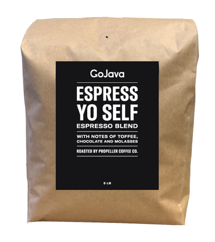 GoJava - Whole Bean - Espress Yo Self - Espresso Blend - (5 pound)