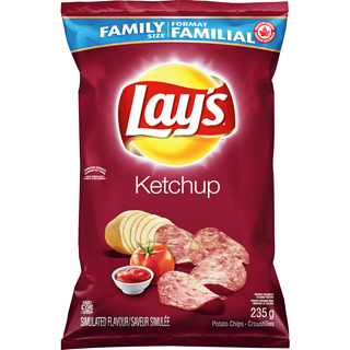 Lay's Ketchup Potato Chips (235g)