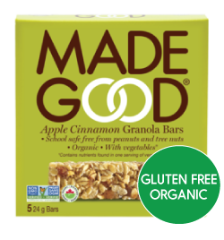 MadeGood - Apple Cinnamon Granola Bars (5x24g)