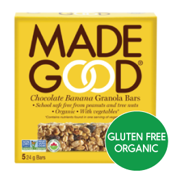 MadeGood - Chocolate Banana Granola Bars (5x24g)