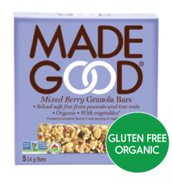 MadeGood - Mixed Berry Granola Bars (5x24g)