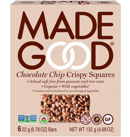 Made Good - Crispy Squares - Chocolate Chip (12x22g)