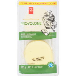 President's Choice  Provolone, Sliced Club Pack (500 g)