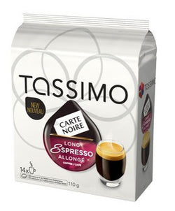 Carte Noir - Long Espresso (14 pack) - Tassimo - Pod - Recycling