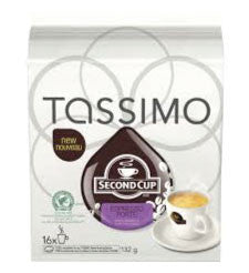 Second Cup - Espresso Forte (16 pack) - Tassimo - Pod - Recycling