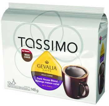 Gevalia - Dark House Blend (12 pack) - Tassimo - Pod - Recycling