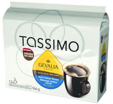Gevalia - Dark Italian Roast (12 pack) - Tassimo - Pod - Recycling