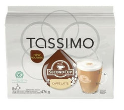 Second Cup - Caf̩ Latte (8 pack) - Tassimo - Pod - Recycling