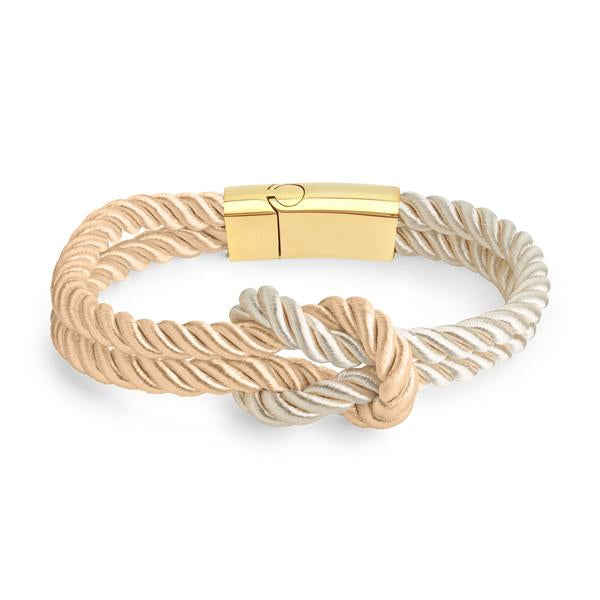 Kordelarmband Cream / White