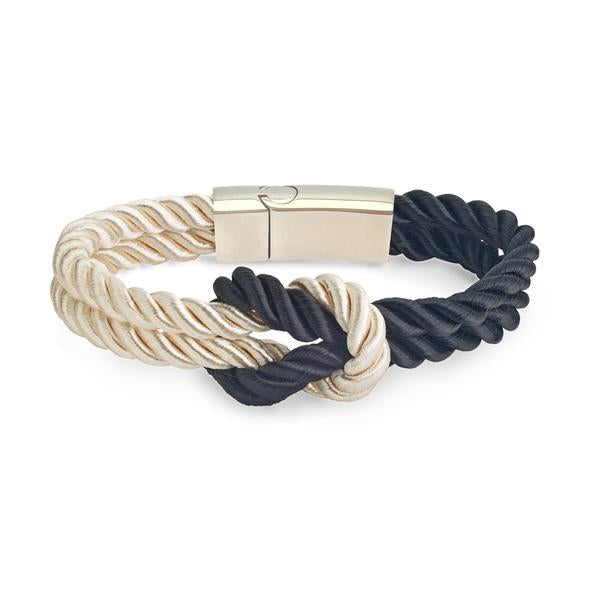 Kordelarmband White / Black