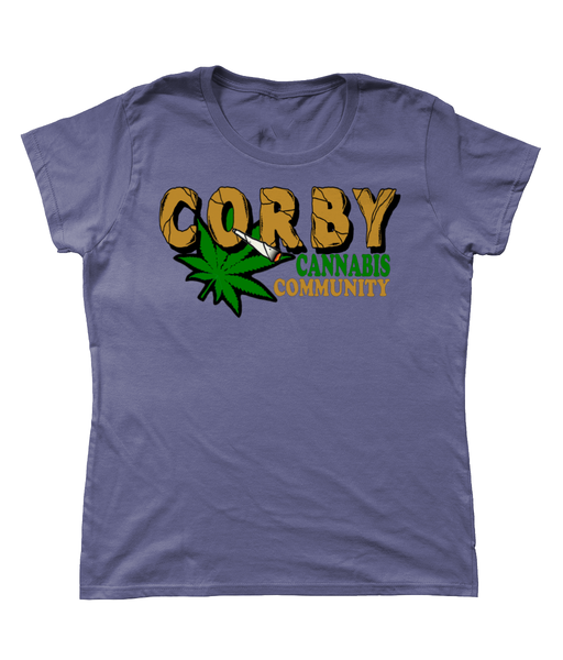Ladies Corby Cannabis Community T-shirt - 420UK