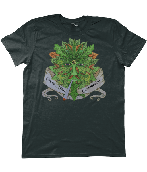 Green Man Compassion T-Shirt - 420UK