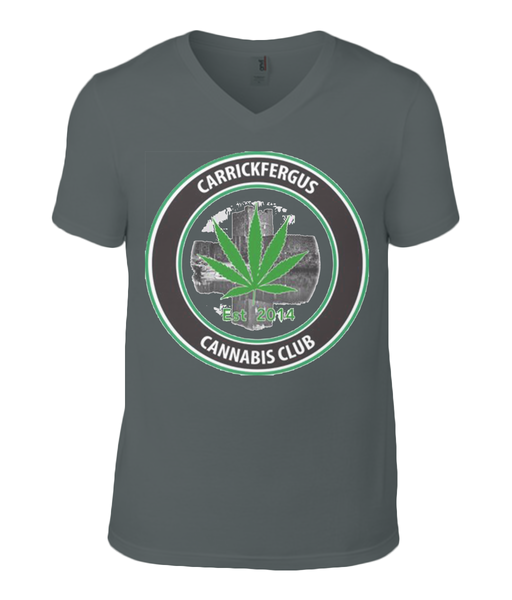 Carrickfergus Cannabis Club V-neck T-shirt - 420UK