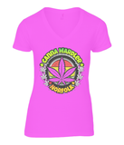 Ladies Norfolk Canna Mardler V-neck T-Shirt - 420UK