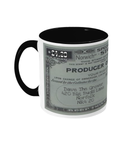 Two toned Cannabis Producer Licence mug - 420UK