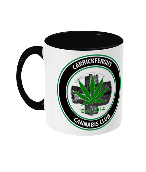Carrickfergus Cannabis Club Two toned mug - 420UK