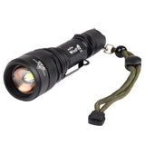 WindFire S16 Zoomable  CREE XM-L2 T6 LED Rechargeable Torch Flashlight