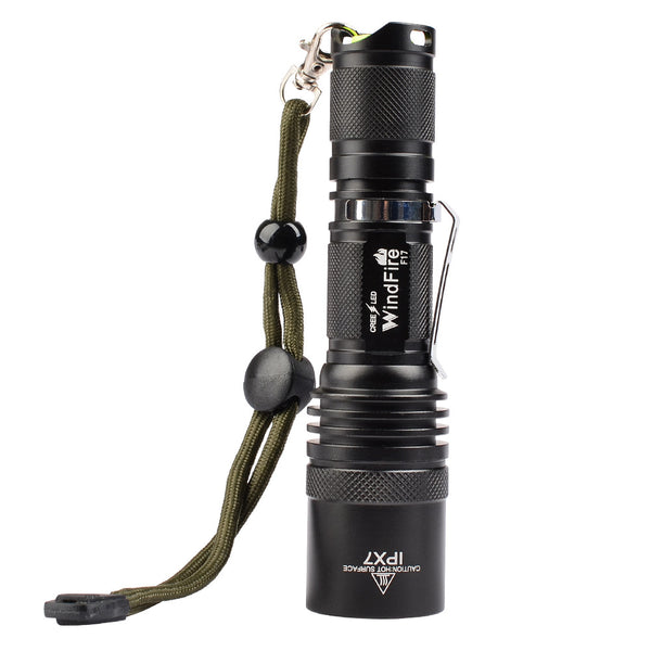 WindFire F17 5 Modes Cree T6 XM-L2 LED Waterproof Flashlight Camping Spotlight Torch