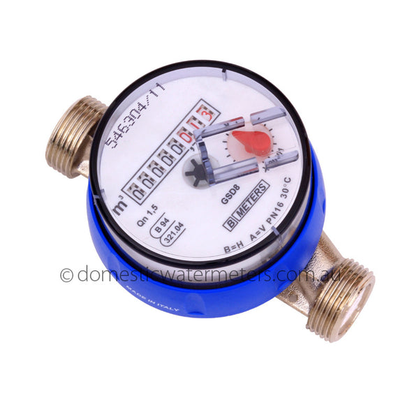 "GSD8 Single-Jet 15mm or 1/2"" Cold Water Meter"
