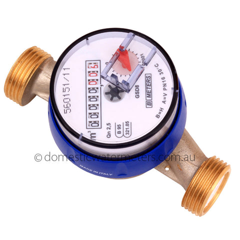 "GSD8 Single-Jet 20mm or 3/4"" Cold Water Meter"