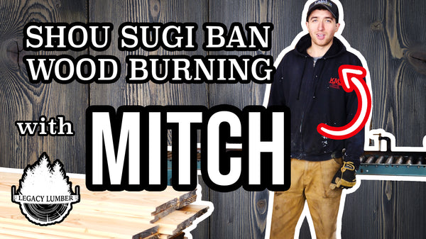 Part 5 of the Ohsweken Project:  Shou Sugi Ban Wood Burning with Mitch