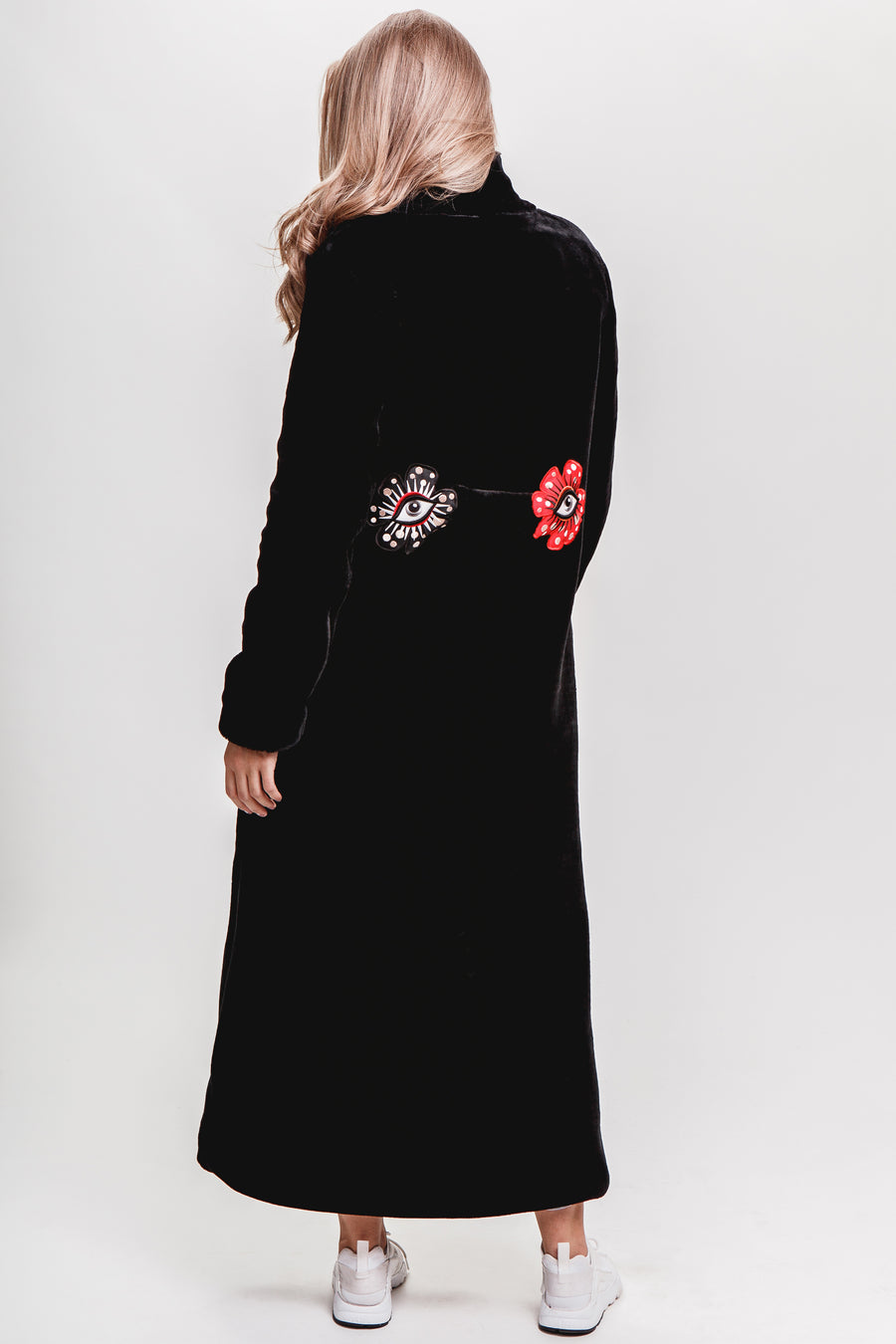 Flower-Eyes Eco Fur Coat