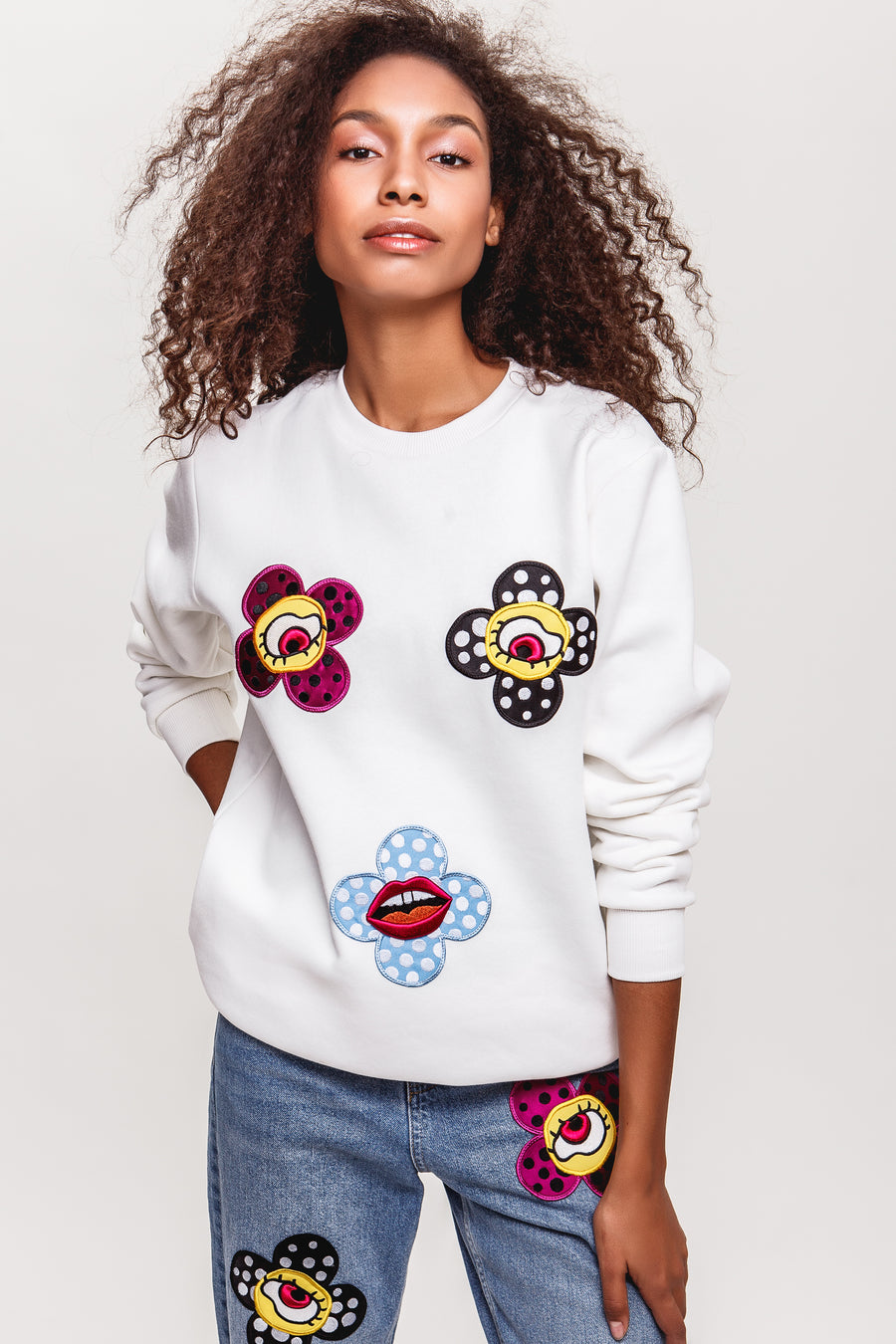 Flower-Eyes Sweatshirt