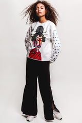 Geisha Cropped Sweatshirt