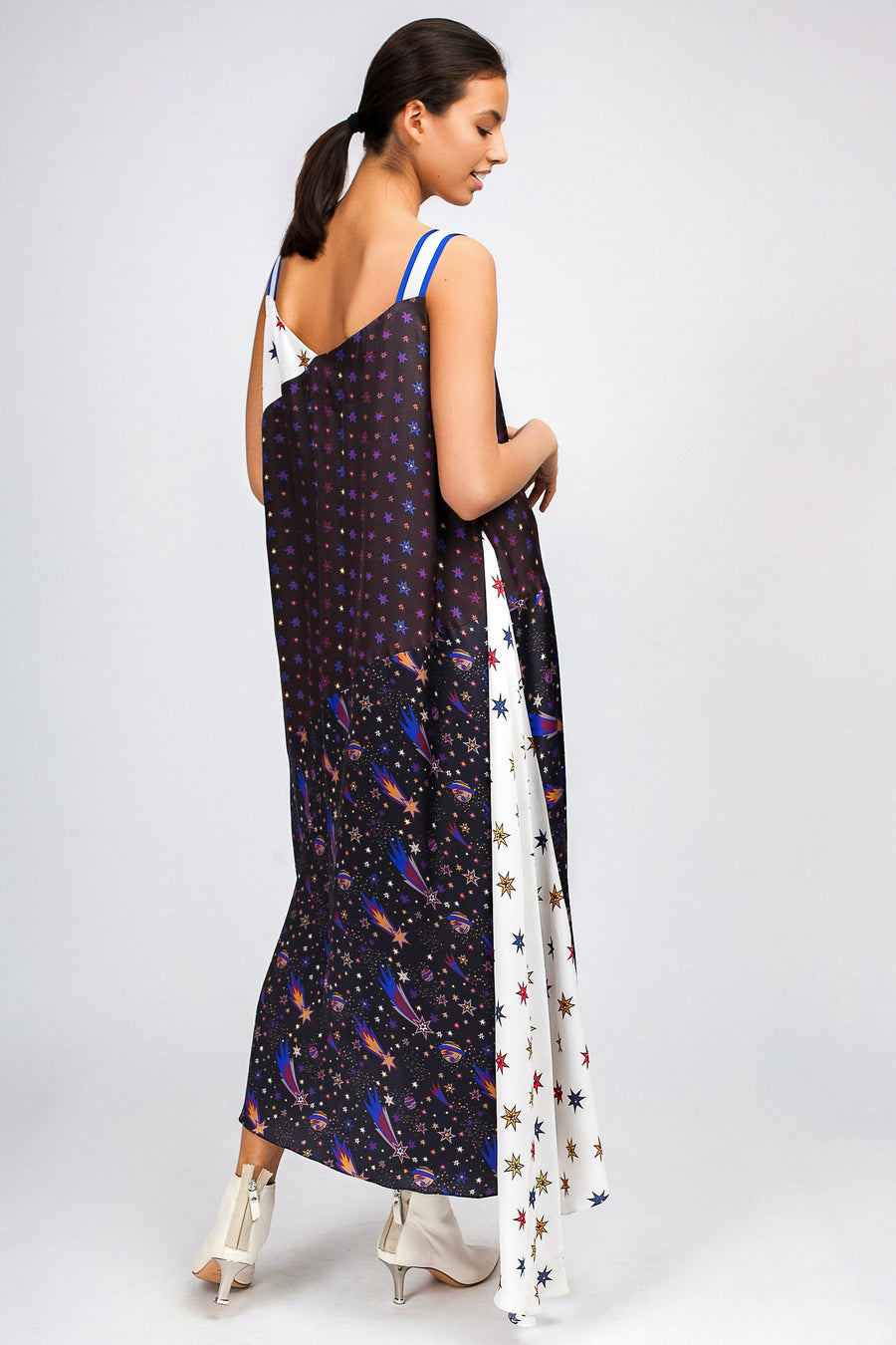 Space Asymmetric Maxi Dress