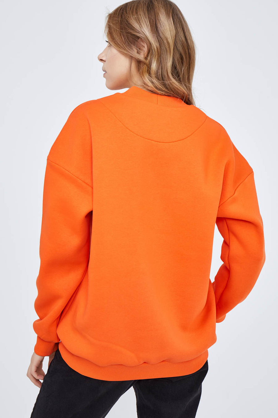 Hands on Heart Sweatshirt in Orange Burst