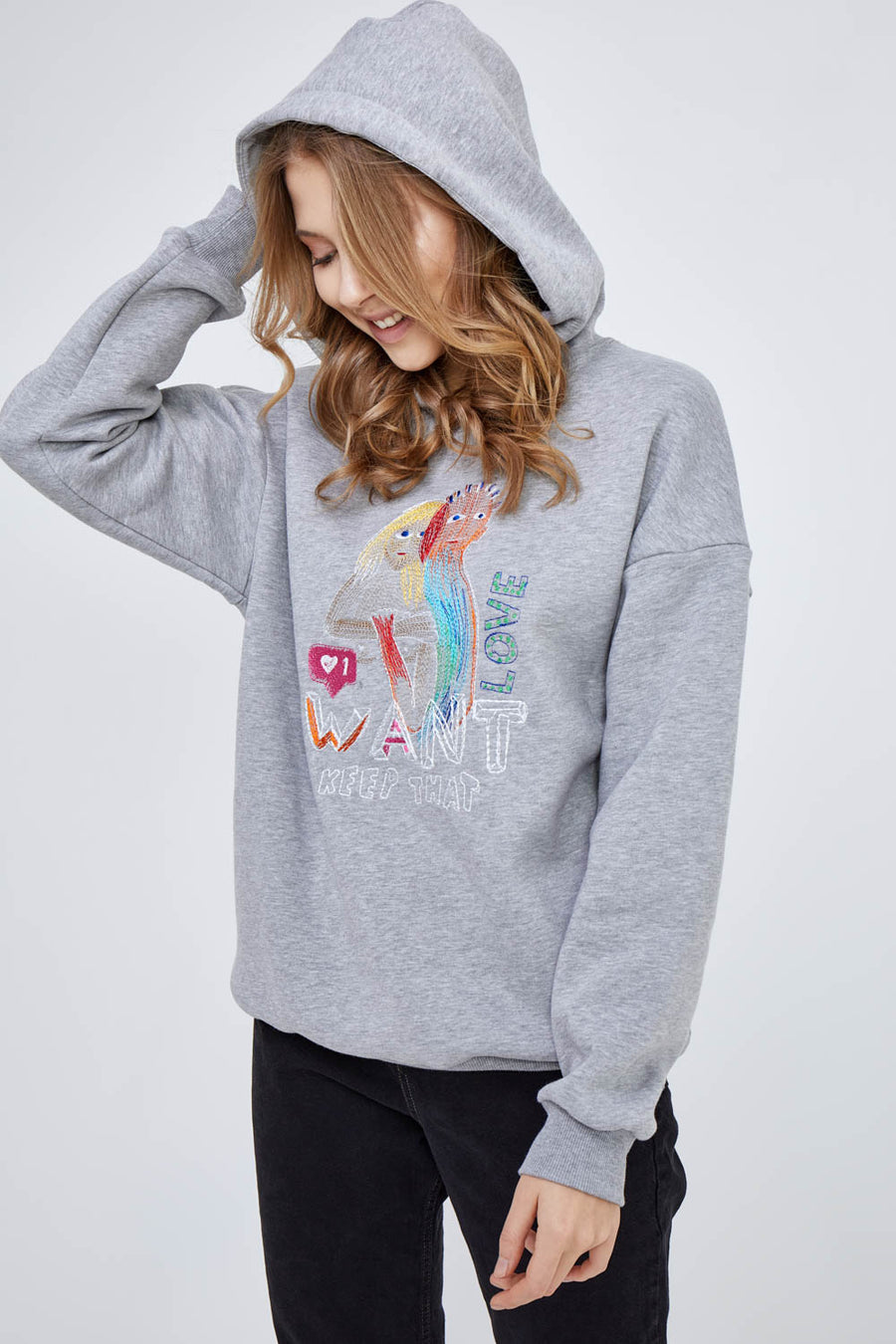Gray Heather Want (Keep) That Love Hoodie