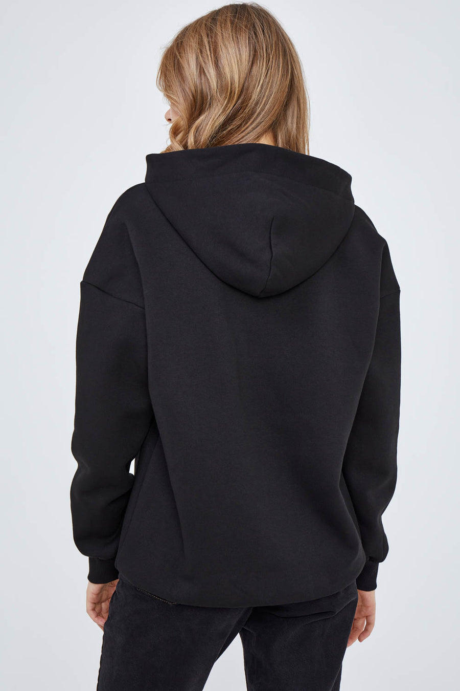 Abstract Love Face Hoodie in Classic Black