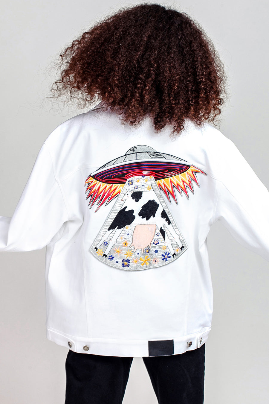 Cow Oversized Denim Jacket