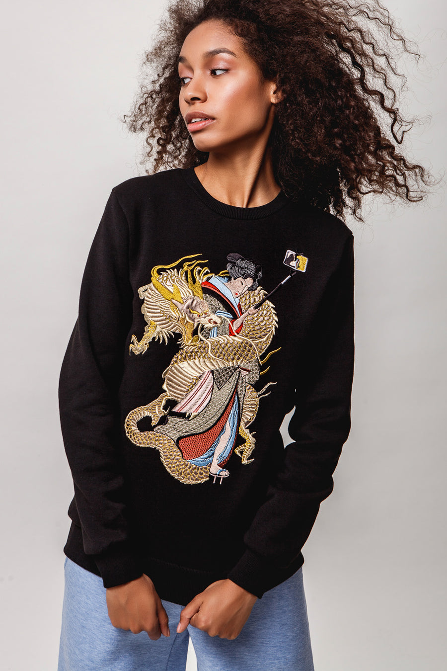 Girl w/ Dragon Sweatshirt