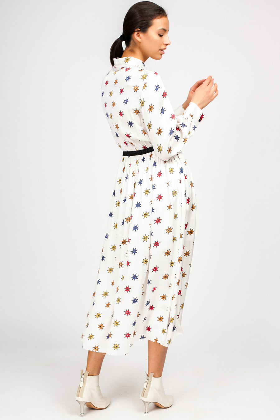 Print Maxi Shirtdress