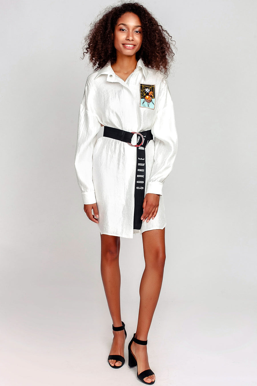 Space Radar Zip Shirtdress